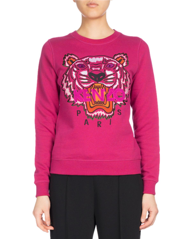 Kenzo Tiger Classic Pullover Sweatshirt, Fuchsia   Neiman Marcus 22c00c27553