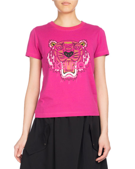 Kenzo Tiger Classic Pullover T-Shirt, Fuchsia