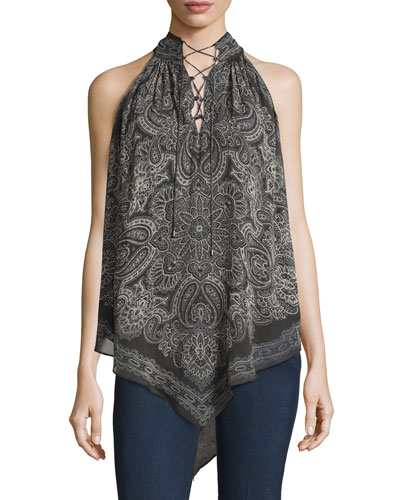 The Stevie Silk Tank Blouse, Multi