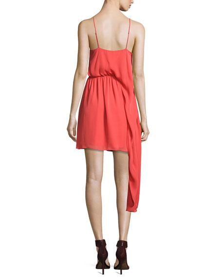 The Laurel Canyon Asymmetric Mini Dress, Pink