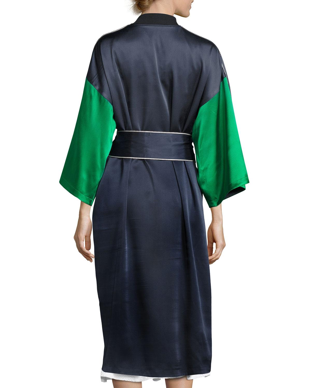 e33c052afa2 Opening Ceremony Reversible Silk Kimono Robe, Navy   Neiman Marcus