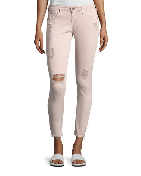 AG Farrah Skinny Ankle Interstellar Worn Sandalwood Jeans,