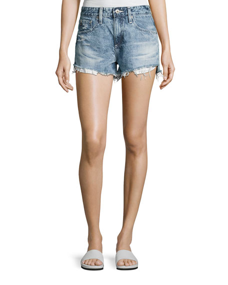AG Sadie Mid-Rise Denim Shorts, Indigo
