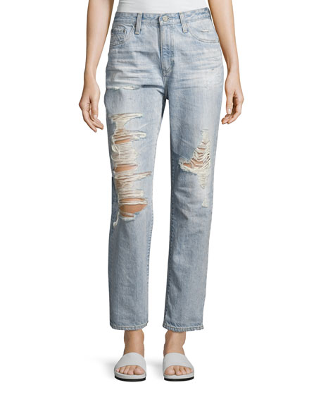 AG Adriano Goldschmied Phoebe Vintage High-Rise Jeans, Indigo