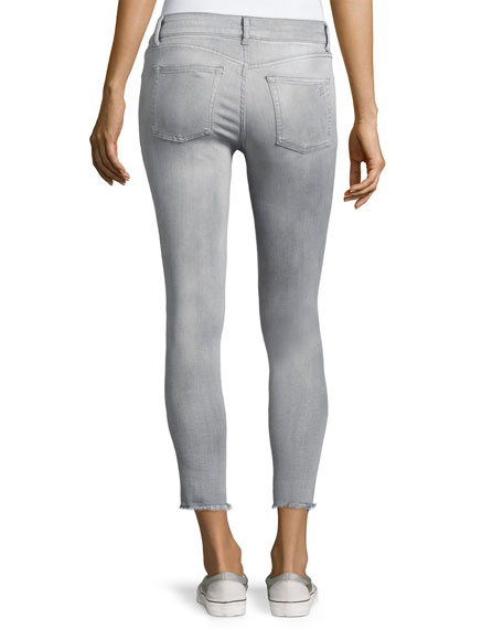 Florence Instasculpt Cropped Denim Jeans, Gray