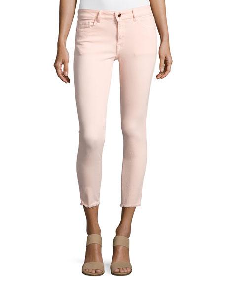 DL1961 Premium Denim Florence Instasculpt Cropped Jeans, Pink
