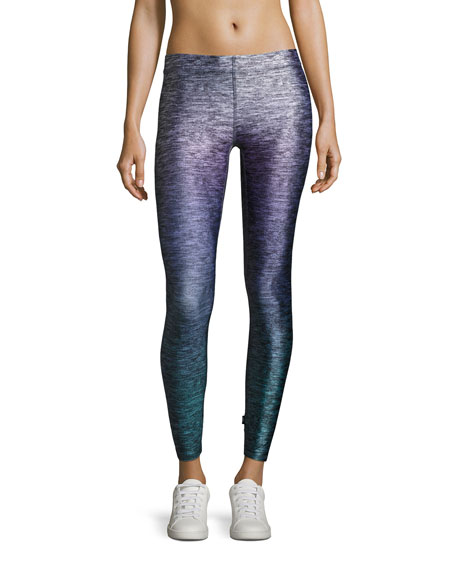 Heathered Ombre Performance Leggings, Purple Pattern