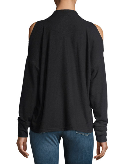 Carbon Revive Cold-Shoulder Long-Sleeve Sweatshirt