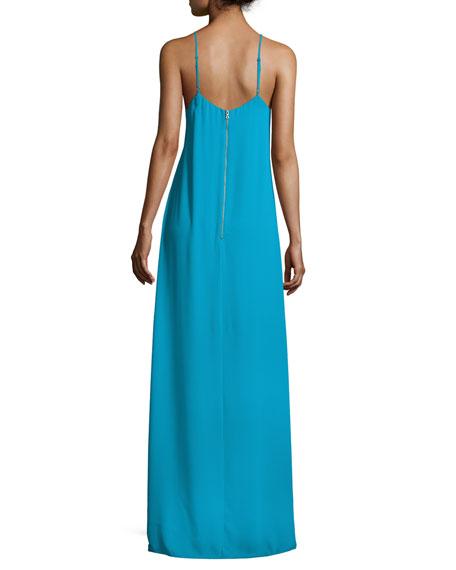 Reagan Side-Slit V-Neck Slip Dress