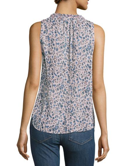 Alma Sleeveless Silk Top, Multi