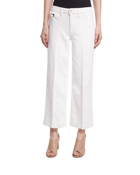 PAIGE Lori Ankle Jeans W/ Faux Pockets