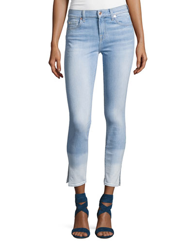 The Ankle Skinny Ocean Breeze Jeans W/Side Slit