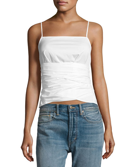 Elizabeth & James Montgomery Tie-Waist Sleeveless Top, White