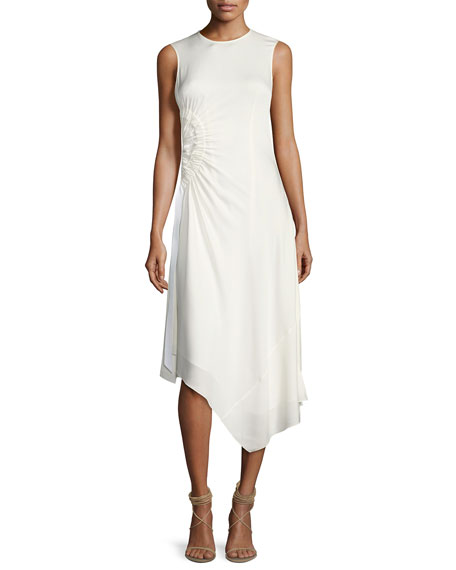 Elizabeth and James Martha Sleeveless Side Ruching Midi