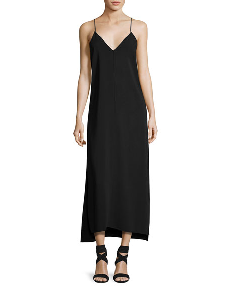 Elizabeth and James Dara V-Neck Sleeveless Slip-Style Dress,