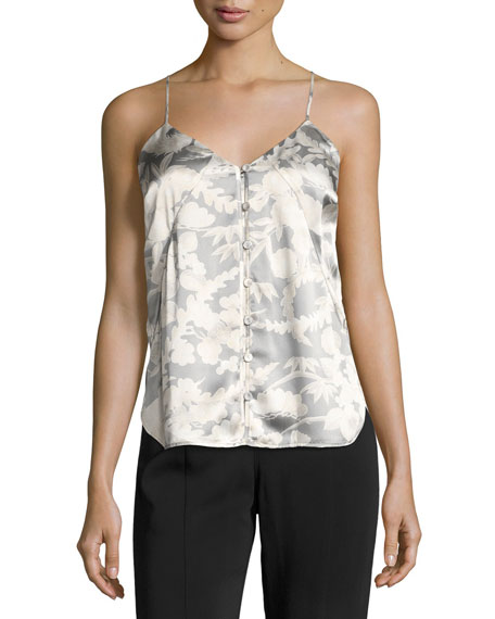 Elizabeth & James Carlo P. Button-Down Silk Camisole