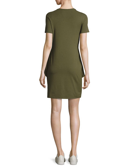Theory Dakui Knotted T-Shirt Dress