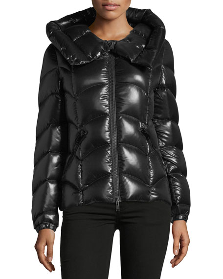 Moncler Anthia Hooded Wave Puffer Jacket
