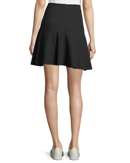 Abrilin K A-line Ponte Skirt