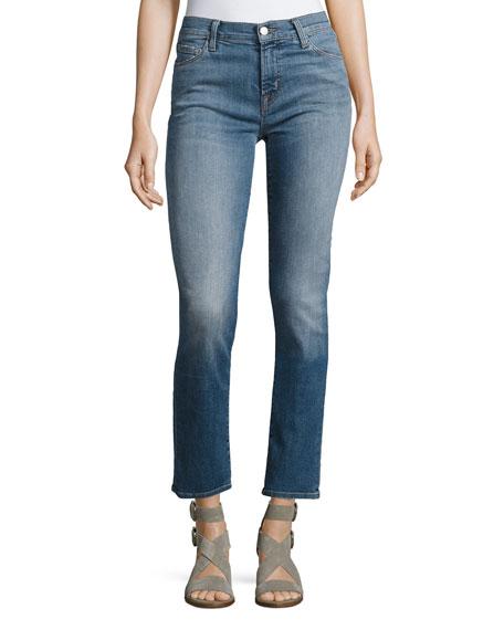 Maude Mid-Rise Cigarette Jeans, Blue