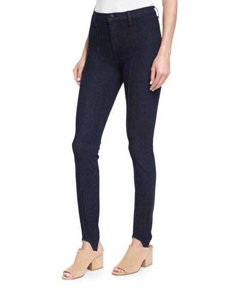 J Brand Maria High-Rise Stirrup Jeans, Blue