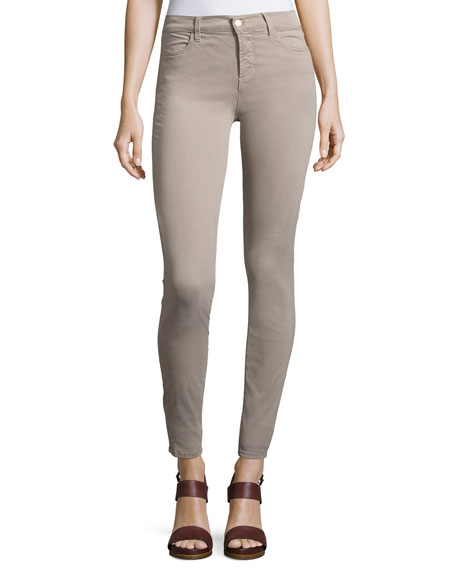 J Brand Maria High-Rise Sateen Super Skinny Pants,