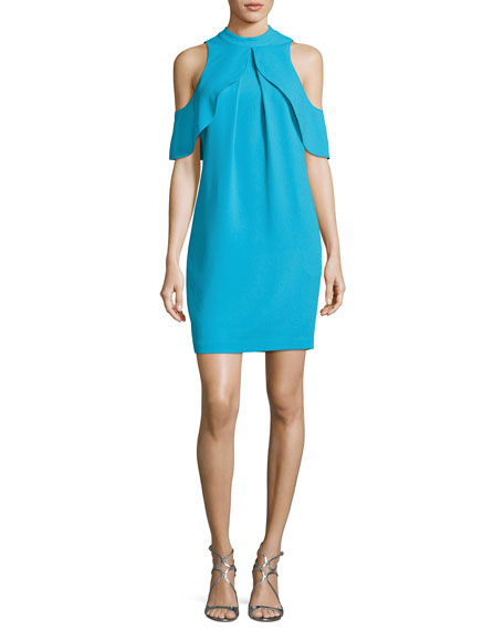 Amado Cold-Shoulder Crepe Cocktail Dress, Skinny Dip