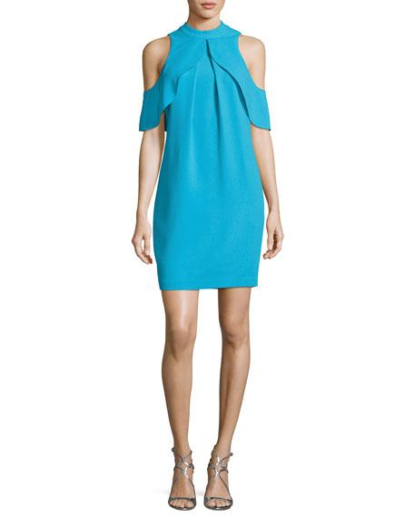 Amado Cold-Shoulder Crepe Cocktail Dress, Skinny Dip