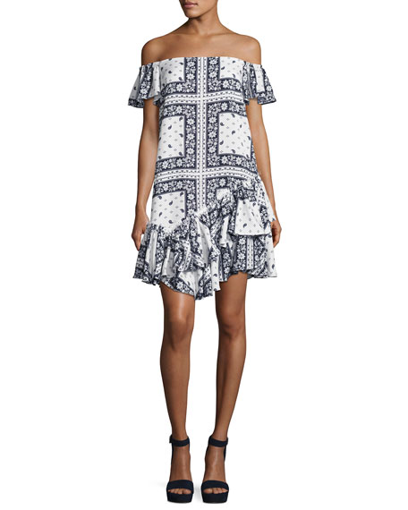 cinq a sept Minella Off-the-Shoulder Paisley Dress, Multi