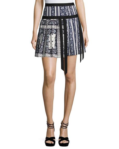 Amory Silk A-line Skirt, Multi