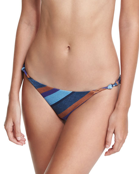 Striped Chambray Rope Swim Bottom