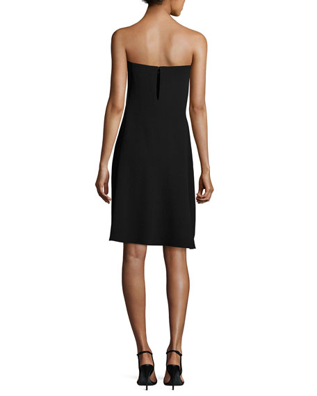 Genius Strapless Popover Shift Dress, Black