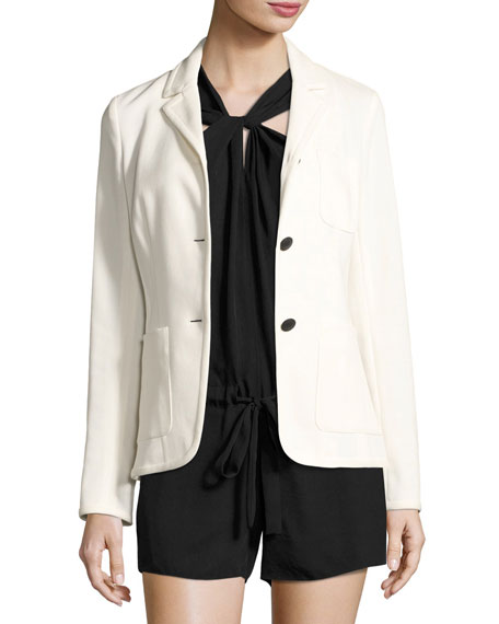 Rag & Bone Redgrave Two-Button Blazer, Cream and