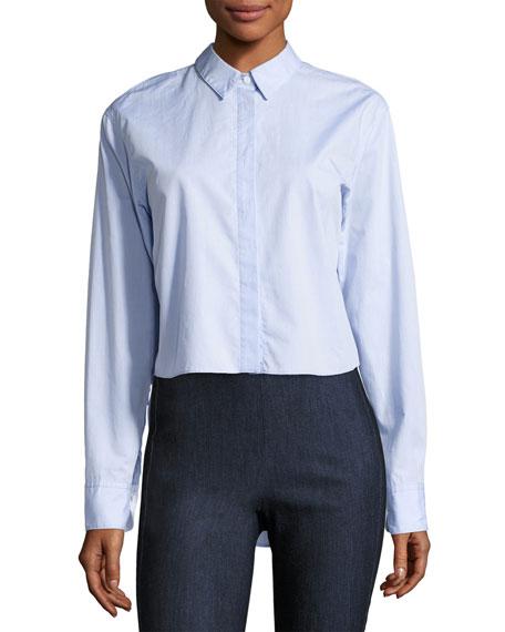 Calder Reversible Long-Sleeve Button-Down Shirt, Blue