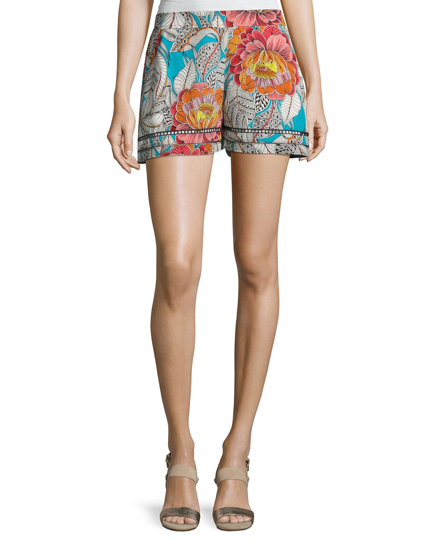 97ce88a8cdf Trina Turk Bubbly Floral Silk Shorts