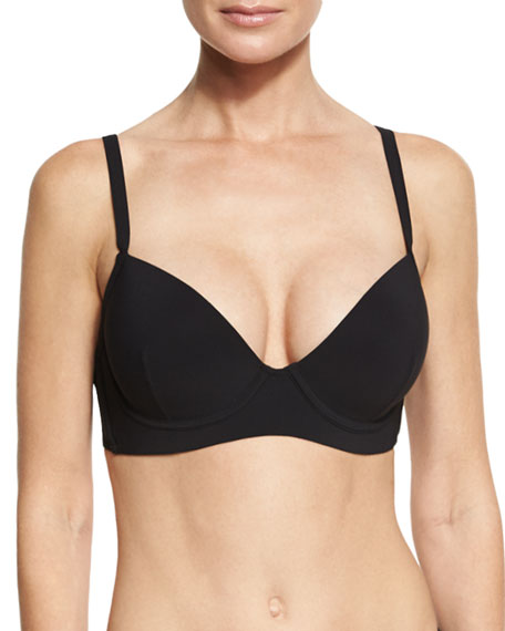 Heidi Klein Body Straight Strap Swim Top, Black