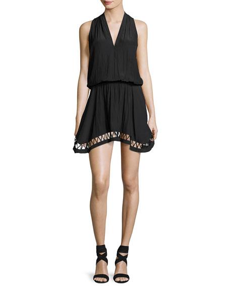 Ramy Brook Hunter Sleeveless V-Neck Dress, Black