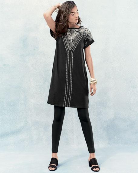 Havana Nights Tunic Dress, Black Onyx