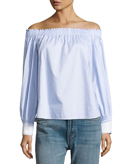 Elizabeth and James Geneva Off-The-Shoulder Cotton Top,