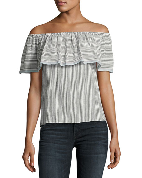 Bailey 44 Fetir Off-The-Shoulder Cotton Top