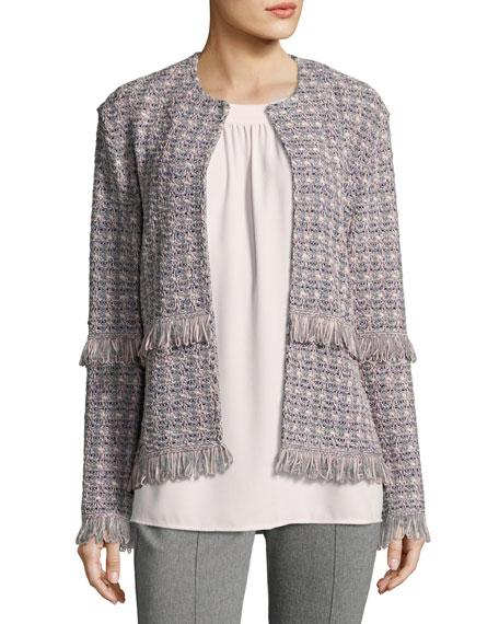 Textural Powder Tweed Jacket