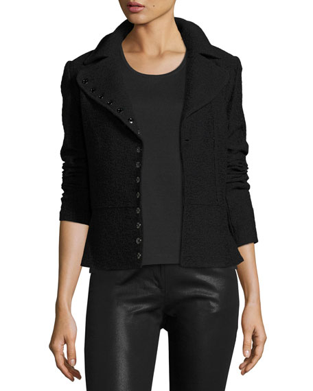 St. John Collection Clair Knit Peplum-Hem Jacket w/