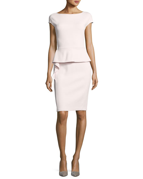 St. John Collection Luxe Sculpture Knit Dress W/