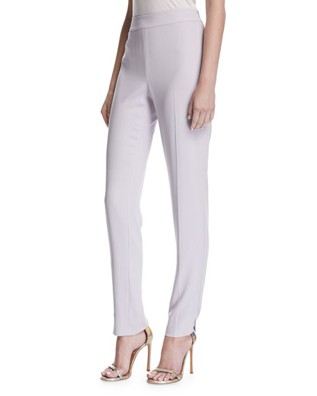 St. John Collection Lightweight Satin Back Crepe Pants