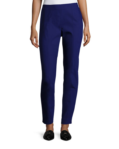St. John Collection Scuba Bi-Stretch Cropped Legging, Cobalt