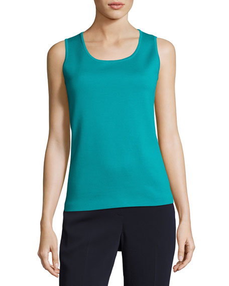 Milano Knit Contour Shell, Teal