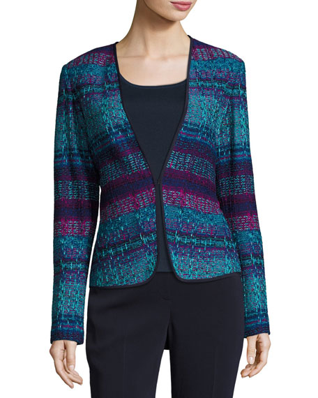 St. John Collection New Ellah Knit Collarless Jacket