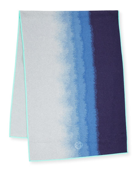 "Yogitoes® 68"" Yoga Mat Towel, Waterfall Midnight"
