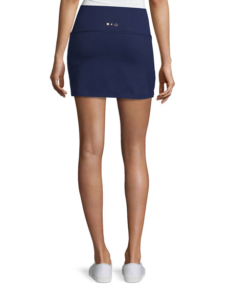 x kate spade new york sailing stripe high-waisted skort, blue/white