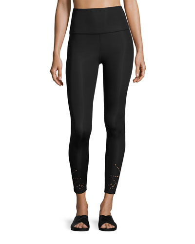 Knit Down High-Waist Performance Legging, Jet